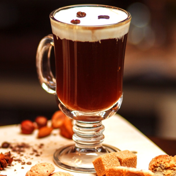 how to make an irish coffee with baileys and whiskey