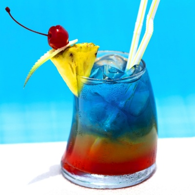Rainbow cocktail sans alcool